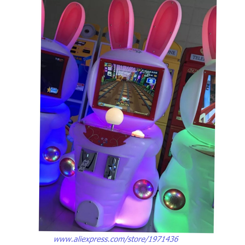 Lovely Rabbit Mini Amusement Fairground Coin Operated Arcade Game Machine For Children
