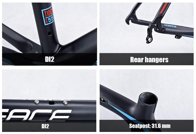 HTB12zPhj2BNTKJjSszbq6yFrFXaL - 2017-2018 Tideace aero Cadre Route Frameset Made in China Carbon Fiber Road Bike Frame Bicycle Frame 50/53/55cm