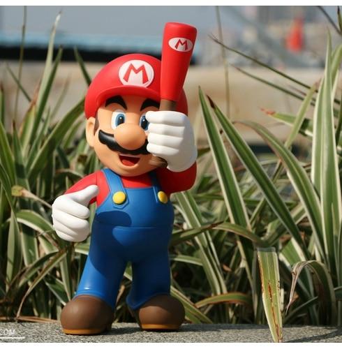 12inch 30CM Super Mario Bros Mario Baseball Stick Style Series 1 VINYL Figure Doll Toys плюшевая игрушка super mario bros ems 30 u neko 9 st003