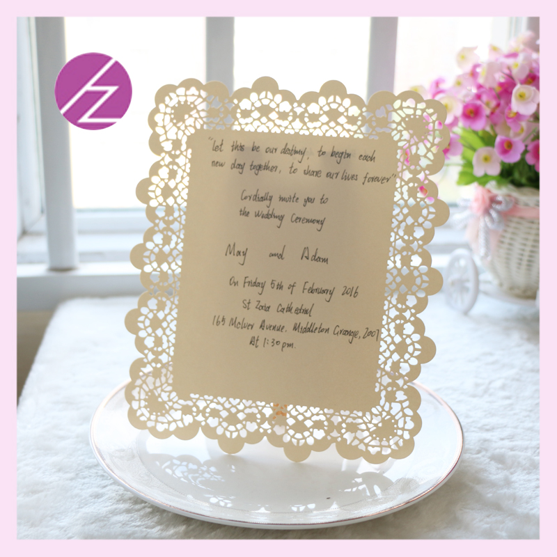Flower Embossed Invitations cards New Elegant with words on ...