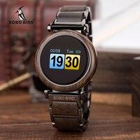 Luxury Couple Watch Men Electronic touch Wooden Lady Versatile Wristatches Male Women erkek kol saati BOBO BIRD Timepiece