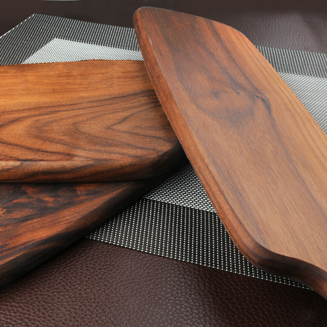 1 Pcs Black walnut wood cutting board kitchen chopping board 3 size pizza disks real wood without glue stock plate 2