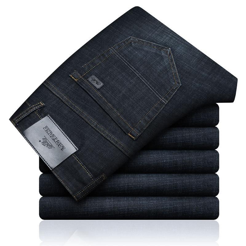 ICPANS Denim   Jeans   Men Casual Classic Basic Straight Black   Jeans   For Men Business Pants   jeans   men regular fit Big Size 40