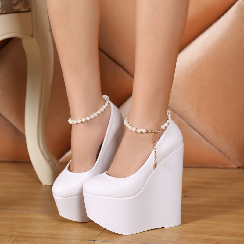 Compare Prices on Cheap White Wedge Shoes- Online Shopping/Buy Low ...