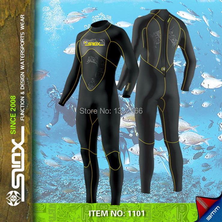 Free shipping SLINX 3mm SCR Mens 100 Neoprene Wetsuit for Diving font b Swimming b font