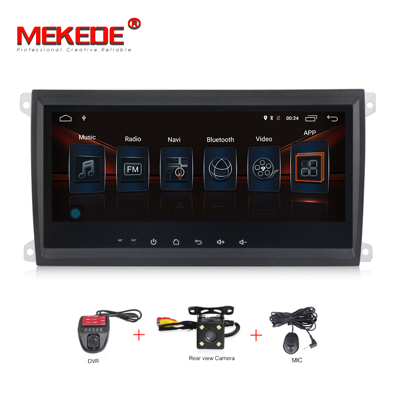 MEKEDE 4G LTE full touch screen Android 7.1 2G RAM Car DVD Radio audio for Porsche Cayenne 2003-2010 car gps navigation