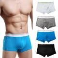 Mens calzoncillos de algodón transpirable cortocircuitos de la marca 2017 sexy trunks bolsa boxershort mens underwear calzoncillos bragas masculinas suave
