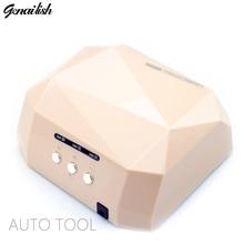 genailish 1106 AUTO Sensor LED Nail Lamp for Nail Dryer Diamond Shaped 36W Long LIife LED
