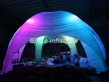 Am populärsten 6 Beine riesiges aufblasbares Kuppelzelt mit geführtem beleuchtet aufblasbarem Spinne kuppeln Igluzelt für Ereignisse und Hochzeit