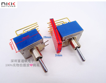 [VK] Japan NKK D2 D-2032H toggle switch  shook  head Toggle switch 9 feet 2 files 0.4VA MAX28V