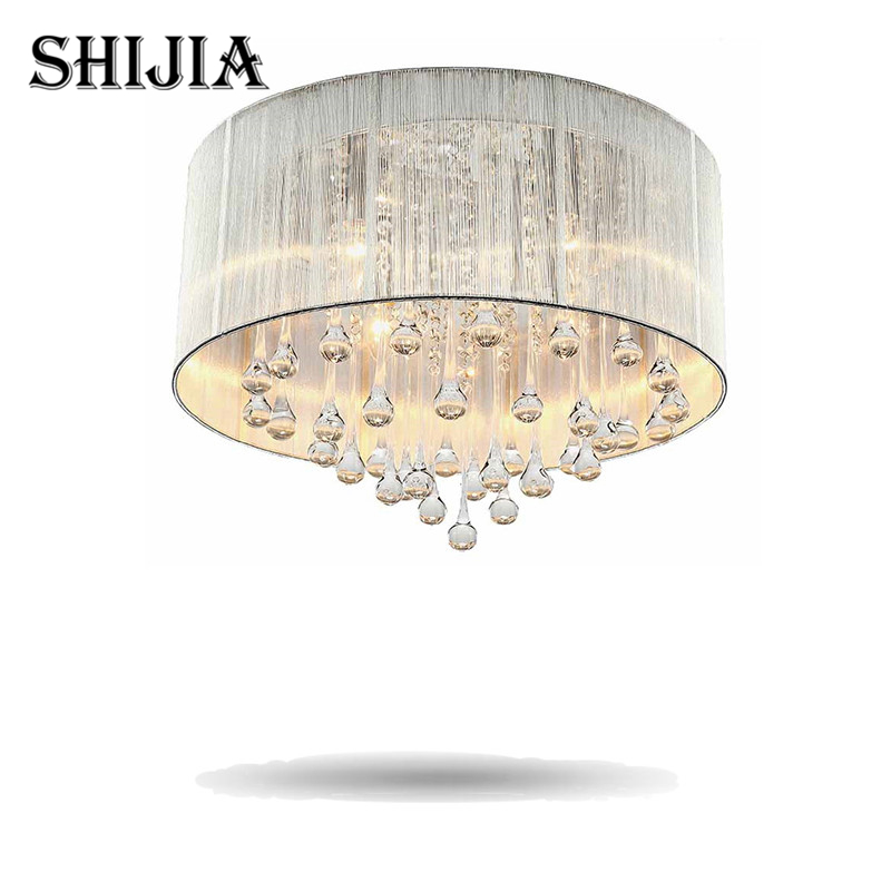 Free shipping Modern crystal celling light Shade Crystal Fixture Lighting Lamp E14 bulbs morden led ceiling light for bedroom