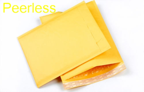 Charitable Peerless 10 Pcs/set 90x130mm Yellow Kraft Paper Bubble Envelopes Gifts Package Mailers Office & School Supplies