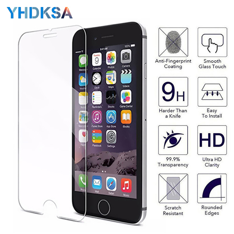 9H Protective Glass on the For iPhone 6 6s 7 8 plus XR X XS Glass iPhone Xs Max 5 5S SE 4 4s Screen Protector Tempered Glass9H Protective Glass on the For iPhone 6 6s 7 8 plus XR X XS Glass iPhone Xs Max 5 5S SE 4 4s Screen Protector Tempered Glass