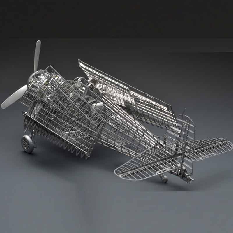 Tout en métal alliage bricolage assemblée modèle avion 1/48 F6F-5 enfer chat combattant squelette puzzle