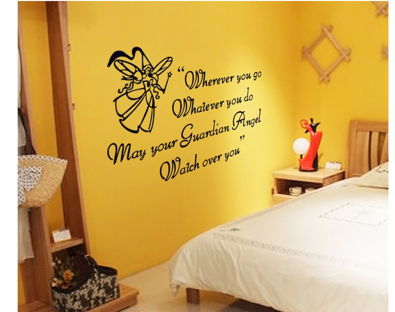 cute princess home decoration poster adhesive wall sticker vintage ...