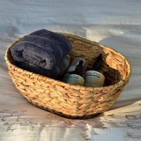 Wickerwork Storage Box Rattan Basket Fruit Vegetable Draining Basket Woven Washing Clothes Laundry Basket Holder Toys