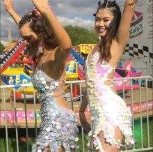 Sexy Bling Sequins Summer dress women Befree Bandage Irregular tassel bodycon Luxury nightclub party dresses