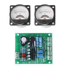 VBESTLIFE 2 шт 12-15 в/300 мА VU метр теплый задний светильник звукозаписывающий усилитель уровня звука с аналоговой панелью драйвера VU метр Аудио Уровень
