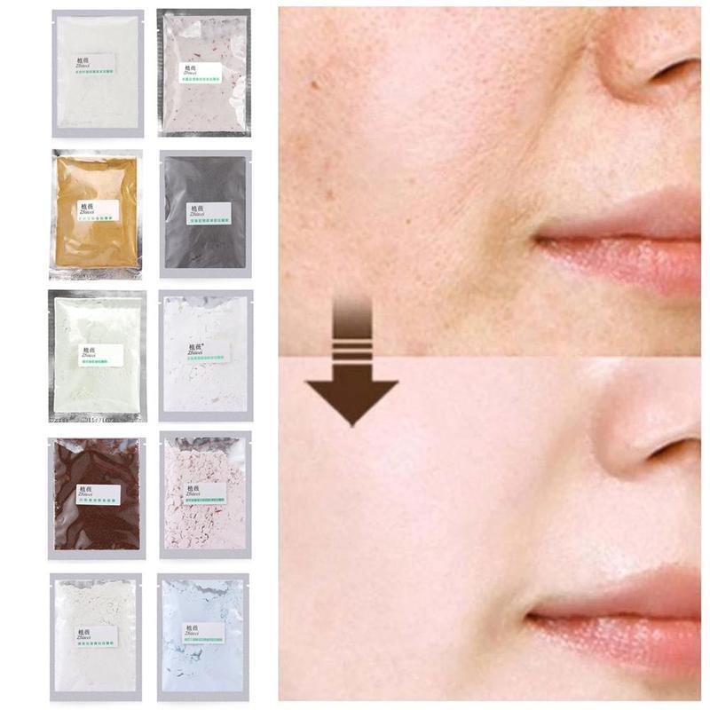 20g DIY SPA colágeno ácido hialurónico máscara en polvo suave mascarilla facial Anti envejecimiento Anti arrugas pelar polvo de máscara de goma