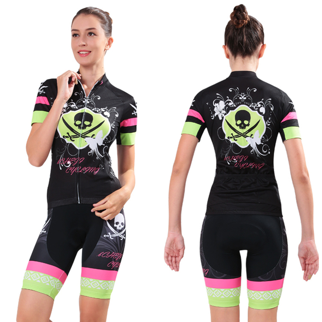 Hit Color Jersey Sets Womens Short Sleeve Cycling Clothing Mountain Bike  Wear Bicycle Ropa Maillot Jerseys Kit Summer Breathable aa5834ecc