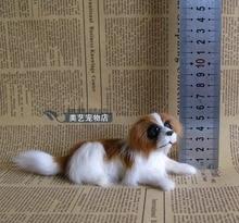 small cute simulation saint bernard toy polyethylene & furs sitting dog gift about 16x6x6cm