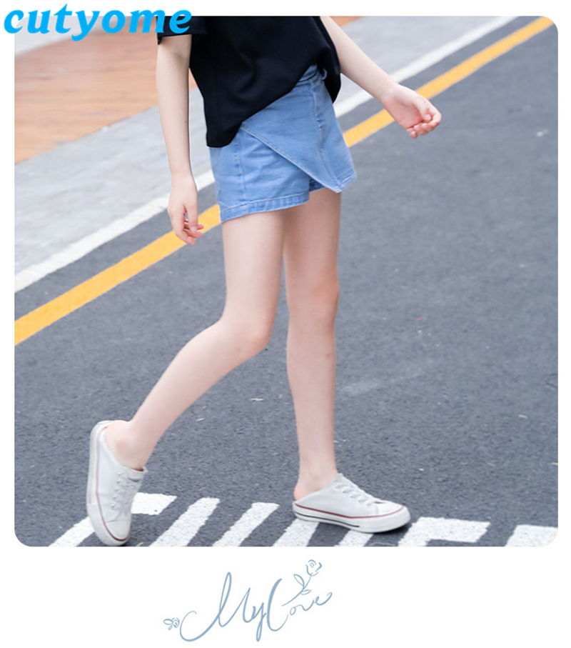 teenage girls faux skirt shorts11