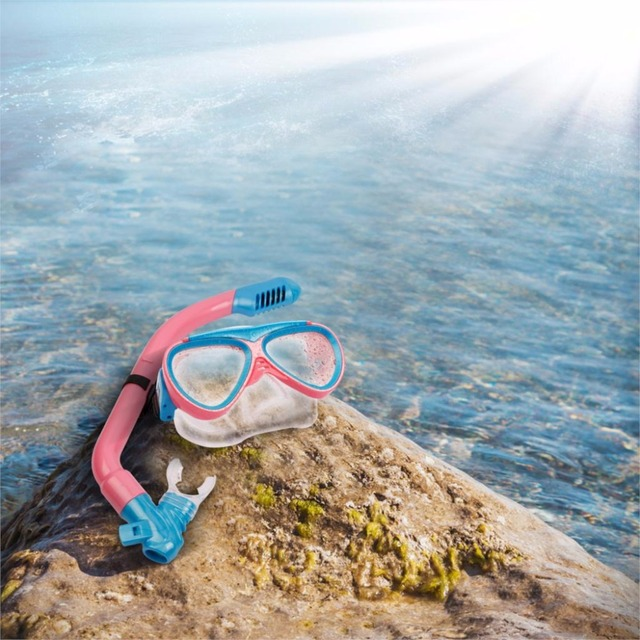 New Children kids Scuba Diving Mask Snorkel Glasses Set Anti-Fog Goggles swim eyewear Swimming mask