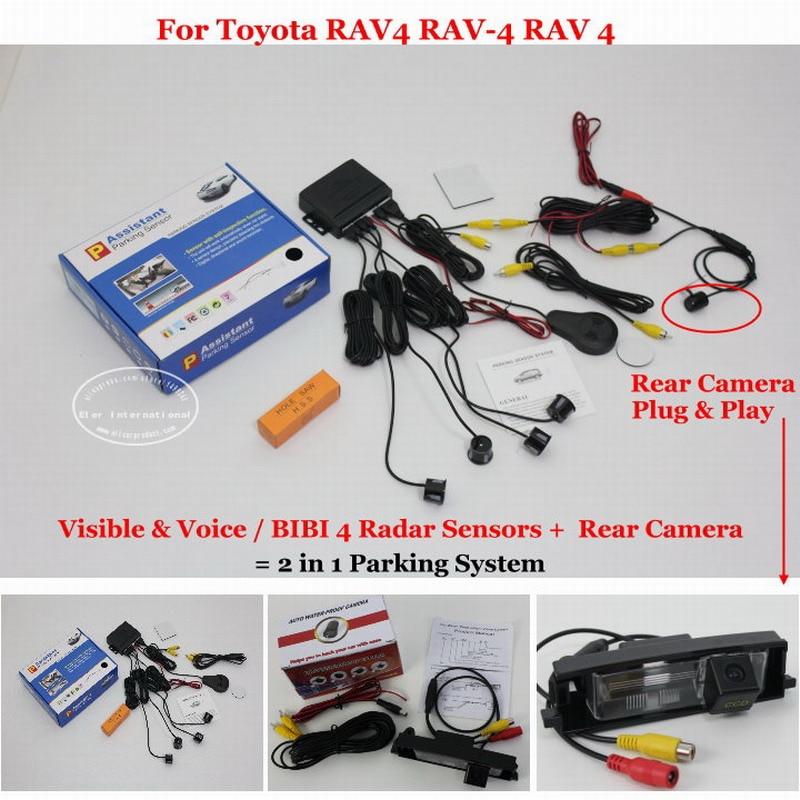 Liislee For Toyota RAV4 RAV-4 RAV 4 2006~2012 - Car Parking Sensors + Rear View Camera = 2 in 1 Visual / Parking System цена