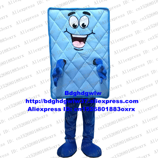 Blauw Bed Matras Bed Kussen Mascotte Kostuum Adult Cartoon Karakter Outfit Pak Circularize Flyer Marketing Promoties Zx2570