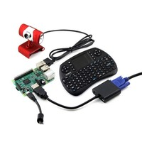 Module Waveshare Raspberry Pi 3 Model B Development Kits Camera Mini Wireless Keyboard Micro SD Card