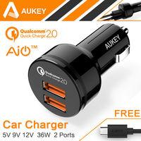 AUKEY 2 Ports Qualcomm Quick Charger 2 0 5V 9V 12V Mini Fast Charger USB Charge