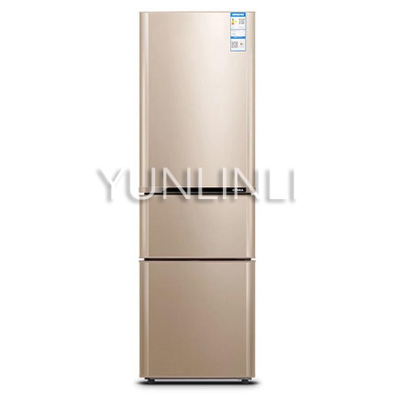 Household Three-door Type Refrigerator  Domestic Energy-saving Refrigerator   206L Large Capacity Household Fridge  BCD-206GX3S