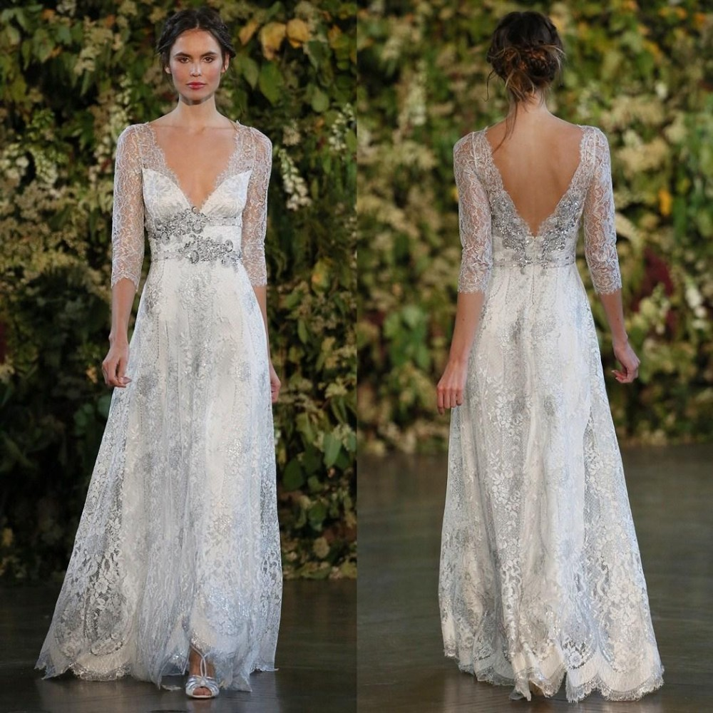 Online buy wholesale silver lace wedding dress from china for Silver dresses to wear to a wedding