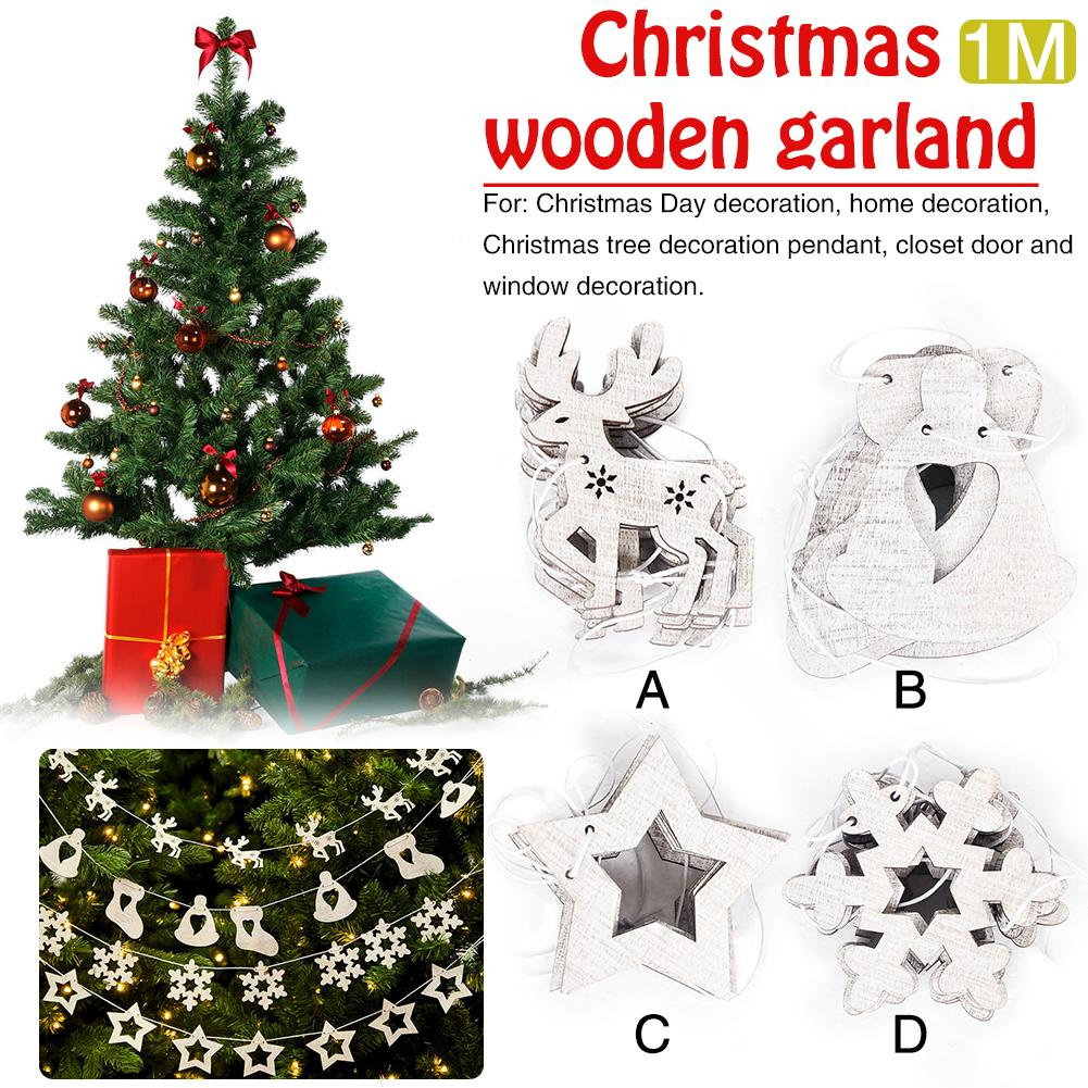 2018 New Fashion Christmas Decorations Supplies Christmas Decorations Garland Pendants Christmas Tree Cutouts Decoration
