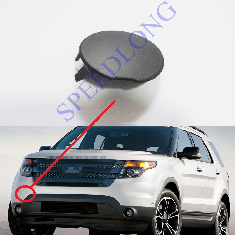 1 Piece Front Bumper Tow Towing Hook Cover Trailer Eye Cap For Ford Explorer Sports 2013