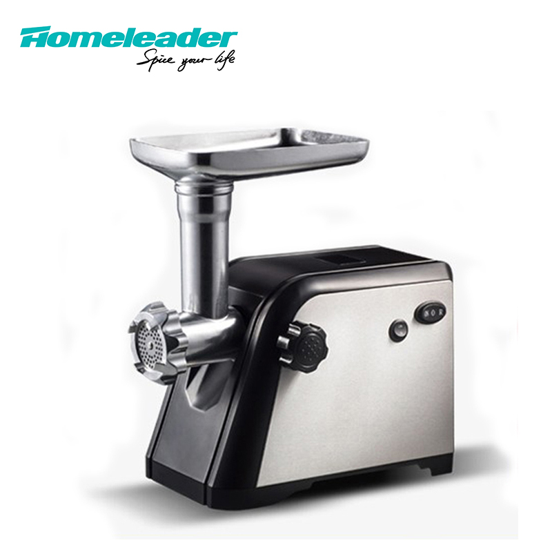 Homeleader Vegetable Food Meat Grinder Sausage 800W Electric Meat Cutting Machine Has Three Blades Of Stainless Steel Plate food processor electric fruit vegetable cutter with 4 blades potato cutting machine restaurant kitchen applicance
