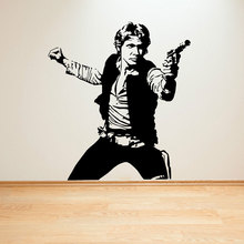 Star Wars movie characters Han Solo wall stickers vinyl anime fans home decoration DY06