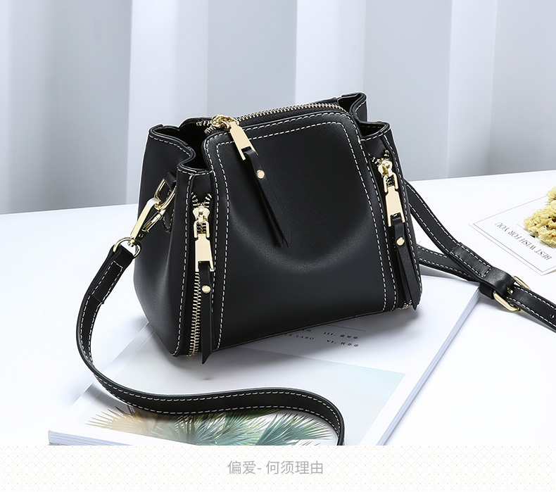 Women's bag ladies handbag elegant bag fashion patent leather shoulder bag mini luxury bucket bag FQX
