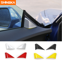SHINEKA font b Car b font Styling A pillar Decorative Sticker Window Triangle Cover Trim for
