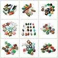 Randomly Assorted Necklace Pendants Gem Stone Charms Ntural Pendants Charms Jewelry Making Christmas Gifts (BTB)