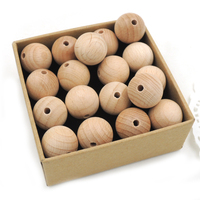 Wholesale 18mm round beech wooden beads unfinished nursing necklace beading ,100pcs Germany beech wood EA270A