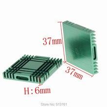 50 Pieces 37x37x6mm Cooling Cooler Radiator Aluminum Heatsinks Heat Sink 50 pieces lot 25 25 5mm heat sink cooler radiator cooling aluminum heatsinks