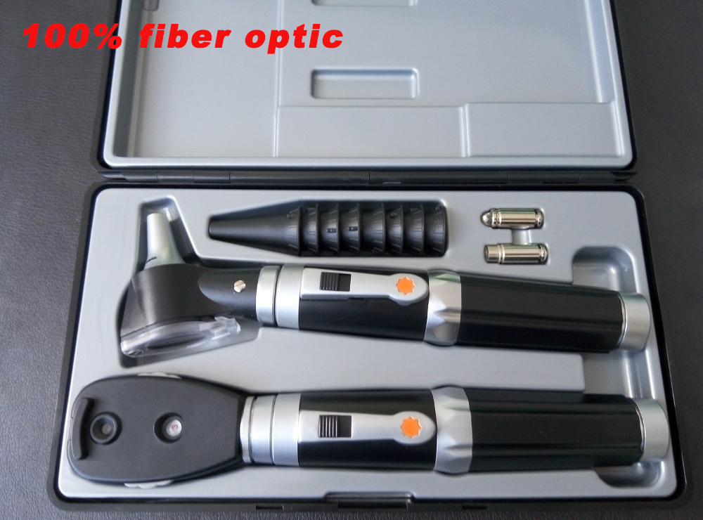 Otoscope et ophtalmoscope optiques portatifs directs de soin d'oreille de Kit médical de Diagnostic professionnel de qualité de l'allemagne