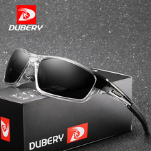 DUBERY Polarized Night Vision Sunglasses Men Square Sport Driving Sun Glasses For Mirror Luxury Brand Designer UV400 D620
