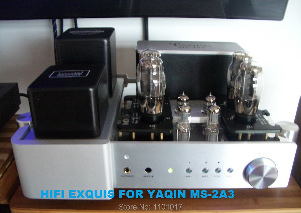 YAQIN MS-2A3 Tube integrated amplifier HIFI EXQUIS Class A lamp Amp headphone output Remote Control appj pa1502a tube headphone amplifier hifi exquis 6n4 12ax7 6p6p 6v6 lamp headset amps