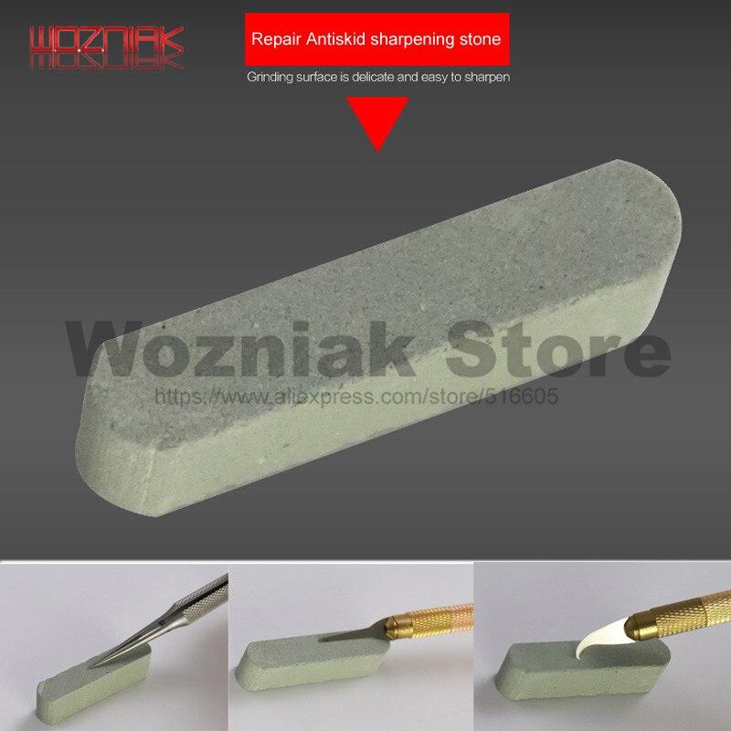 Wozniak Knife Stone Tweezers Blade Friction Repair Tool Iron Head To Restore Sharp Stone