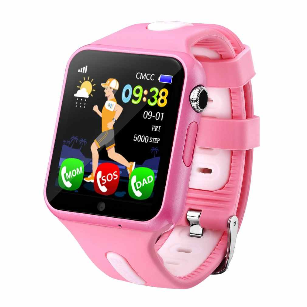 V5k 1.54 Inch Screen GPS Tracker Anti Lost Monitor SOS Call Children Smart Watch With Camera Phone Clock Kids Baby Birthday Gift