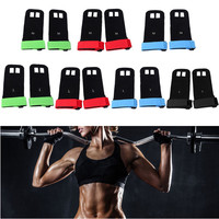 Hot Sale 1 Pair Full Grain Leather Hand Grips Barbell Grip Gymnastics Guard Hands Protectors Pull