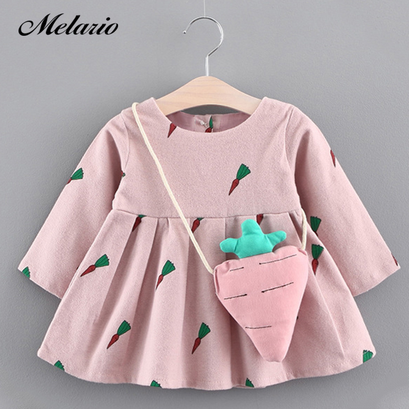 53d188fe623 Melario Baby Dresses 2019 New Spring Autumn Baby Girls Clothes Floral  Printing Girls Party Dress Princess