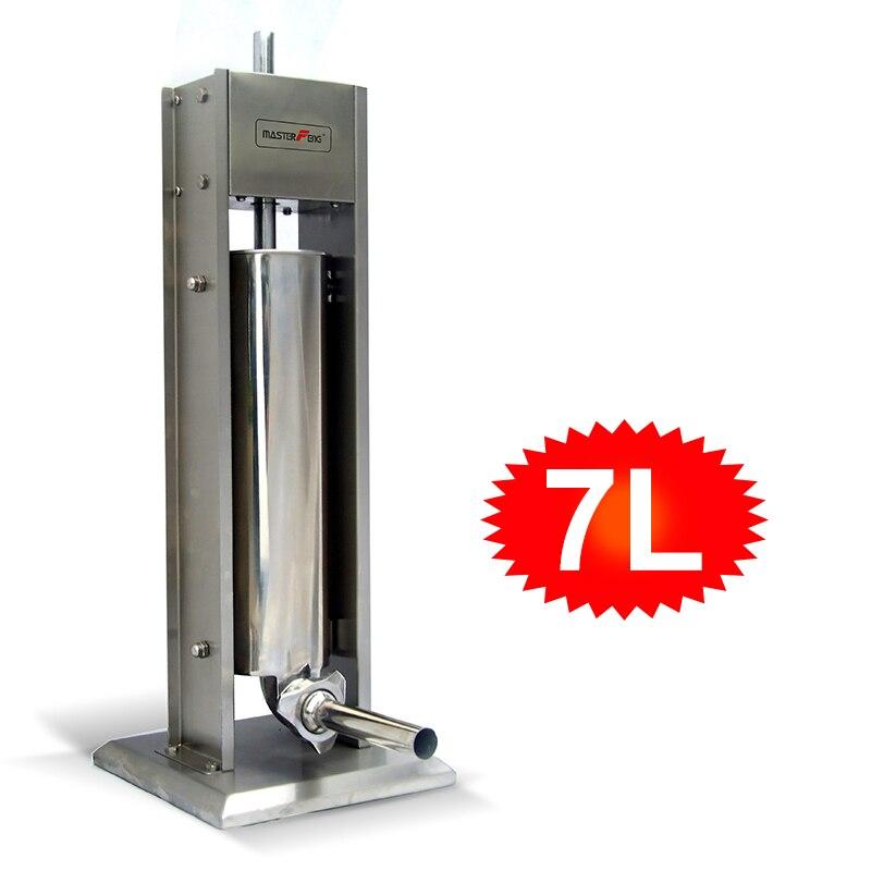 3L/5L/7L Manual Seringa de Salsicha Stuffer Salsicha Máquina De Enchimento De Carne Da Cozinha de Aço Inoxidável Comercial Salame Salsicha Stuffer